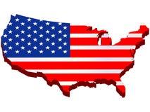 αμερικανικός χάρτης Στοκ Φωτογραφίες