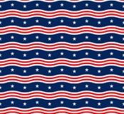 Αμερικανικό άνευ ραφής σχέδιο αστεριών Στοκ Εικόνες