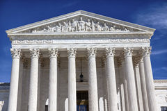 Αμερικανικό ανώτατο δικαστήριο Κάπιτολ Χιλλ το πρωινό Washington DC Στοκ Εικόνα