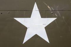Αμερικανικό αστέρι σε ένα στρατιωτικό όχημα Στοκ εικόνα με δικαίωμα ελεύθερης χρήσης