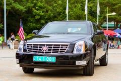 Αμερικανικό αυτοκίνητο Cadillac σε Palanga Στοκ Φωτογραφίες