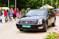 Αμερικανικό αυτοκίνητο Cadillac σε Palanga Στοκ φωτογραφία με δικαίωμα ελεύθερης χρήσης
