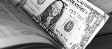 Αμερικανικό δολάριο μέσα στο βιβλίο έννοια οικονομική Στοκ φωτογραφίες με δικαίωμα ελεύθερης χρήσης