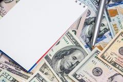 Αμερικανικό δολάριο με τη μάνδρα και Στοκ Φωτογραφίες