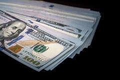 100 αμερικανικό δολάριο που απομονώνεται Στοκ Εικόνα
