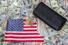 Αμερικανικό δολάριο στο πορτοφόλι Στοκ Φωτογραφία