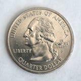 Αμερικανικό δολάριο τετάρτων Στοκ εικόνα με δικαίωμα ελεύθερης χρήσης