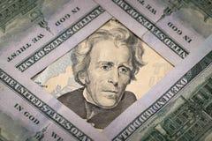 20 αμερικανικό δολάριο Στοκ Φωτογραφίες