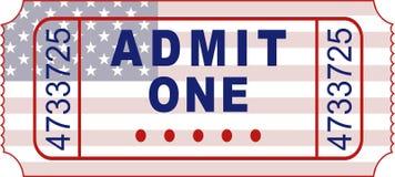 αμερικανικό εισιτήριο διανυσματική απεικόνιση
