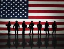 Αμερικανικό εργατικό δυναμικό Στοκ εικόνα με δικαίωμα ελεύθερης χρήσης