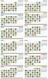 αμερικανικό ημερολόγιο m απεικόνιση αποθεμάτων