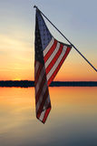 Αμερικανικό ηλιοβασίλεμα Στοκ φωτογραφία με δικαίωμα ελεύθερης χρήσης