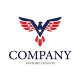Αμερικανικό διανυσματικό σχέδιο λογότυπων Eagle2 Στοκ εικόνα με δικαίωμα ελεύθερης χρήσης
