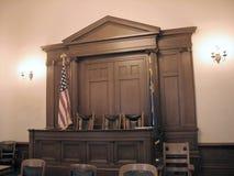 αμερικανικό δικαστήριο Στοκ Εικόνες