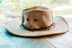 Αμερικανικό καπέλο πιλήματος κάουμποϋ δυτικού ροντέο και αυθεντικό δέρμα wester Στοκ φωτογραφίες με δικαίωμα ελεύθερης χρήσης