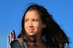 αμερικανικό κορίτσι υπε&rh στοκ εικόνα με δικαίωμα ελεύθερης χρήσης