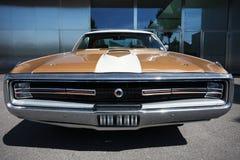 Αμερικανικό κλασικό αυτοκίνητο, μπροστινή άποψη Στοκ Εικόνα