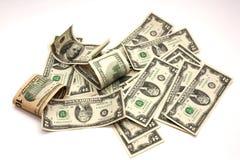 αμερικανικό λευκό δολαρίων Στοκ Φωτογραφία