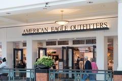 Αμερικανικό λογότυπο αετών στο μέτωπο καταστημάτων στοκ εικόνα με δικαίωμα ελεύθερης χρήσης