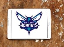 Αμερικανικό λογότυπο ομάδα μπάσκετ του Σαρλόττα Hornets Στοκ φωτογραφία με δικαίωμα ελεύθερης χρήσης