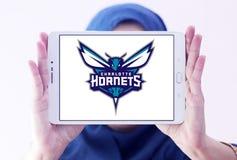 Αμερικανικό λογότυπο ομάδα μπάσκετ του Σαρλόττα Hornets Στοκ Εικόνες