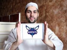 Αμερικανικό λογότυπο ομάδα μπάσκετ του Σαρλόττα Hornets Στοκ φωτογραφίες με δικαίωμα ελεύθερης χρήσης
