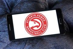 Αμερικανικό λογότυπο ομάδα μπάσκετ των Atlanta Hawks Στοκ Εικόνες