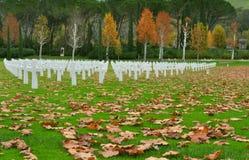 Αμερικανικό νεκροταφείο ηρώων στην Τοσκάνη, Ιταλία στοκ φωτογραφία