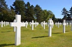 Αμερικανικό νεκροταφείο της Νορμανδίας και αναμνηστικές στήλες Στοκ Φωτογραφία
