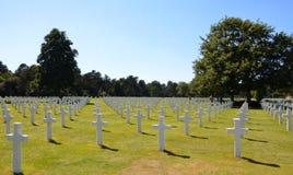Αμερικανικό νεκροταφείο της Νορμανδίας και αναμνηστικές στήλες Στοκ Εικόνες