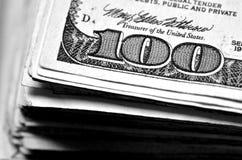 Αμερικανικό νόμισμα δολαρίων που αντιπροσωπεύει τον πλούτο και τους πλούτους Στοκ εικόνα με δικαίωμα ελεύθερης χρήσης