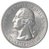 Αμερικανικό νόμισμα τετάρτου Στοκ Φωτογραφία