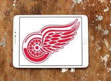 Αμερικανικό λογότυπο ομάδων χόκεϊ του Ντιτρόιτ Red Wings Στοκ Εικόνα