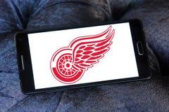 Αμερικανικό λογότυπο ομάδων χόκεϊ του Ντιτρόιτ Red Wings Στοκ Φωτογραφίες