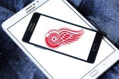 Αμερικανικό λογότυπο ομάδων χόκεϊ του Ντιτρόιτ Red Wings Στοκ Εικόνες