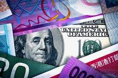 Αμερικανικό δολάριο στη σφαιρική οικονομία Στοκ Φωτογραφία