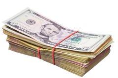 Αμερικανικό δολάριο και το ουκρανικό hryvnia Στοκ Φωτογραφίες