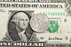 Αμερικανικό δολάριο Κινηματογράφηση σε πρώτο πλάνο Στοκ φωτογραφία με δικαίωμα ελεύθερης χρήσης