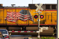 Αμερικανικό πέρασμα σιδηροδρόμου Στοκ φωτογραφία με δικαίωμα ελεύθερης χρήσης
