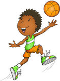 Αμερικανικό παίχτης μπάσκετ Afro Στοκ Εικόνες
