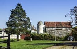 Αμερικανικό παλαιό αγρόκτημα χωρών Στοκ Εικόνα