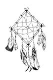 Αμερικανικό παραδοσιακό σύμβολο Ινδών dreamcatcher διανυσματική απεικόνιση