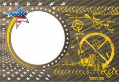 Αμερικανικό πατριωτικό διανυσματικό πλαίσιο φωτογραφιών σε στρατιωτικούς ελεύθερη απεικόνιση δικαιώματος