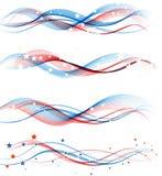 Αμερικανικό πατριωτικό υπόβαθρο ημέρας της ανεξαρτησίας Στοκ Εικόνα