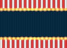 Αμερικανικό πατριωτικό υπόβαθρο με τις λάμπες φωτός σκηνών Στοκ φωτογραφία με δικαίωμα ελεύθερης χρήσης
