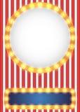 Αμερικανικό πατριωτικό υπόβαθρο ύφους τσίρκων Στοκ Εικόνες