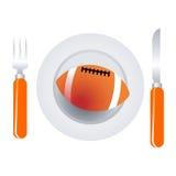 αμερικανικό ποδόσφαιρο πιάτων Στοκ εικόνα με δικαίωμα ελεύθερης χρήσης