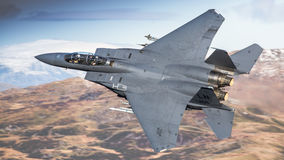 Αμερικανικό πολεμικό τζετ F15 Στοκ Εικόνες