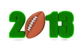 Αμερικανικό ποδόσφαιρο 2013. Στοκ Φωτογραφίες