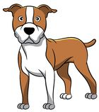 Αμερικανικό σκυλί κινούμενων σχεδίων Staffordshire ελεύθερη απεικόνιση δικαιώματος